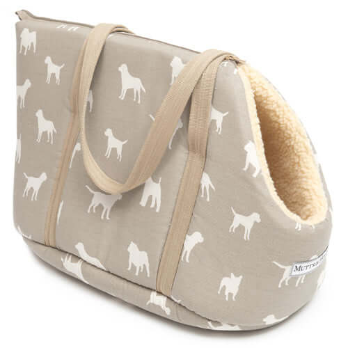 M&H French Grey Dog Carrier