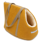 Mustard Wax & Cream Sherpa Dog Carrier