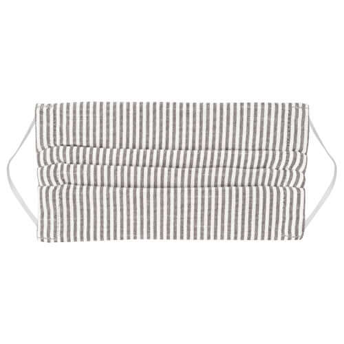 Pack of 3 Face Coverings - Charcoal Stripe