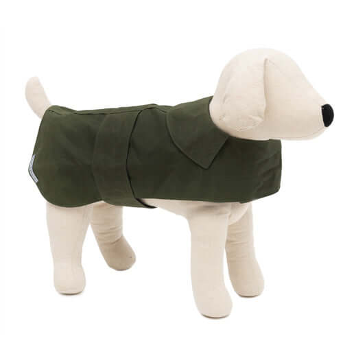 Olive Waxed Dog Coat