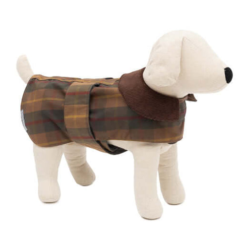 Tartan Waxed Waterproof Dog Coat