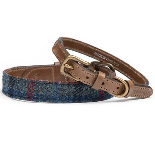 Tytherton Tweed & Leather Dog Collar