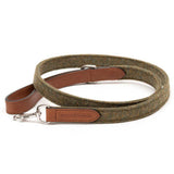 Forest Tweed & Leather Dog Collar