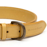 Mustard Full Leather Dog Collar
