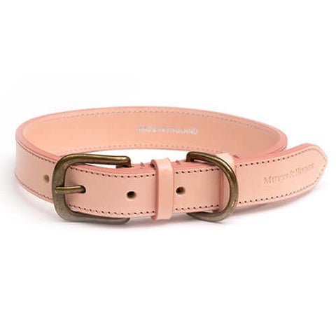 Rose Leather Dog Collar