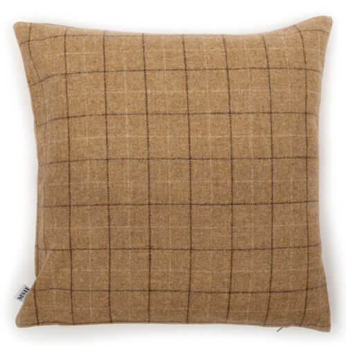 Oatmeal Check Tweed Cushion