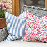 Posie Cotton with Chambray Stripe Cushion