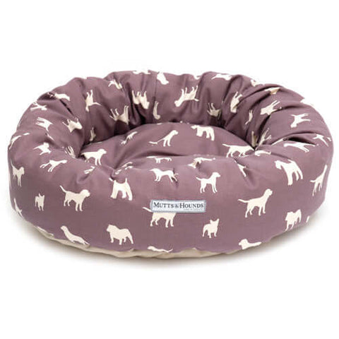 M&H Antiqued Plum Donut Dog Bed