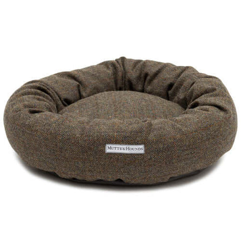 Heritage Tweed Donut Dog Bed