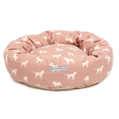 M&H Old Rose Donut Dog Bed
