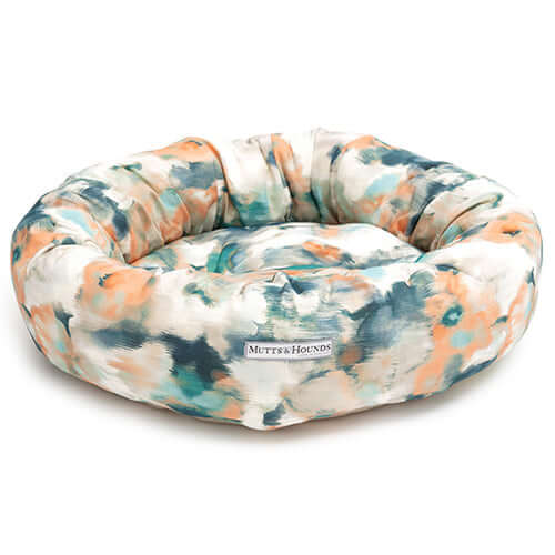 Watercolour Donut Dog Bed