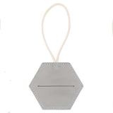 Grey Leather Doggy Bag Dispenser