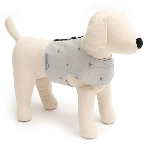 Grey Stars Soft Dog Harness