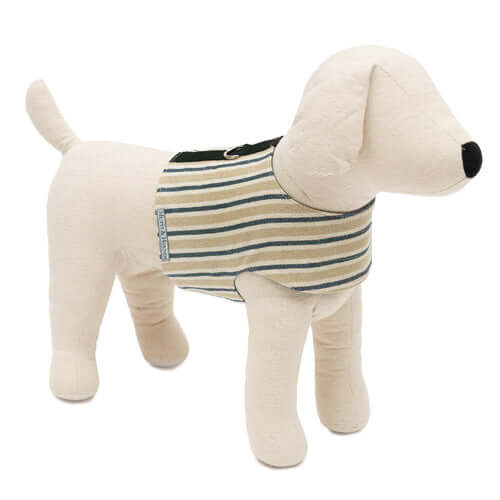 Tetbury Stripe Linen Soft Dog Harness