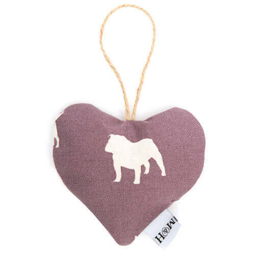 M&H Antiqued Plum Lavender Heart