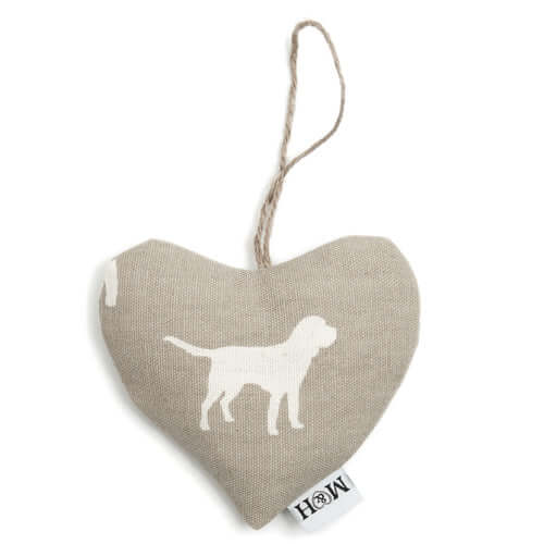 M&H French Grey Lavender Heart