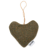 Forest Green Tweed Lavender Heart