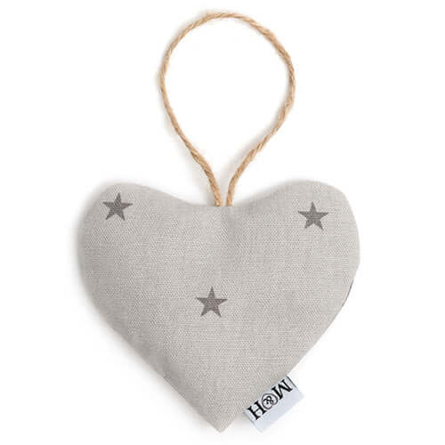 Grey Stars Lavender Heart