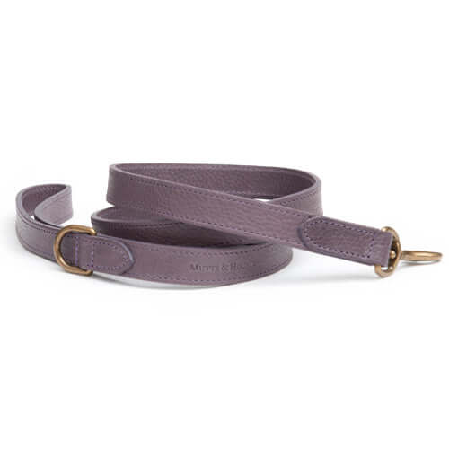 Antiqued Mauve Leather Dog Lead