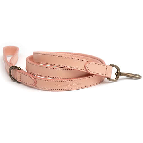 Rose Leather Dog Lead