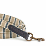 Tetbury Stripe Linen & Leather Dog Lead