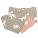 M&H French Grey Reversible Dog Neckerchief