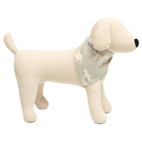 M&H Powder Blue Reversible Dog Neckerchief