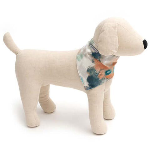 Watercolour & Mineral Stripe Reversible Dog Neckerchief