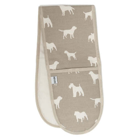 M&H French Grey Oven Gloves