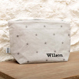 Grey Stars Wash Bag