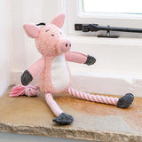 Polly Pig Plush Dog Toy