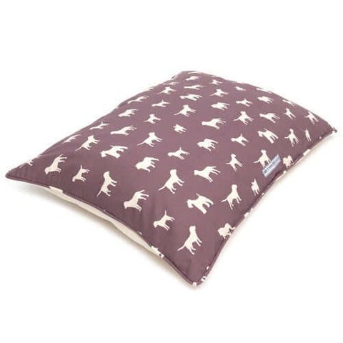 M&H Antiqued Plum Pillow Dog Bed