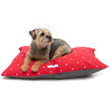 Cranberry Stars Cotton Pillow Dog Bed