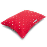 Cranberry Stars Pillow Dog Bed