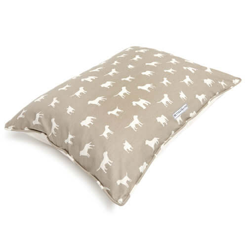M&H French Grey Pillow Dog Bed