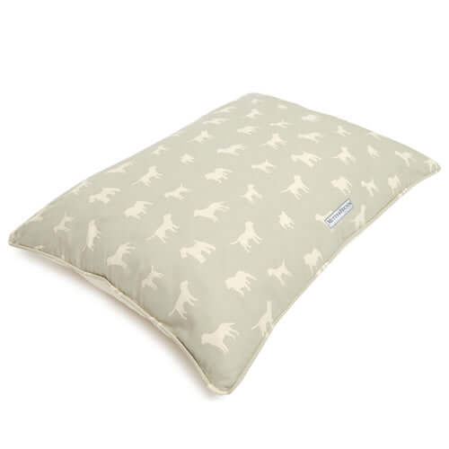 M&H Powder Blue Pillow Dog Bed