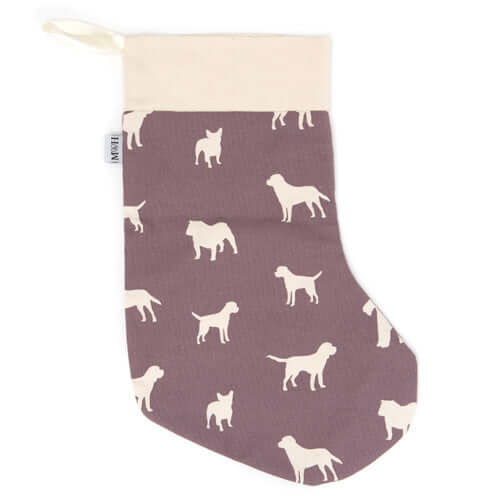 M&H Antiqued Plum Christmas Stocking