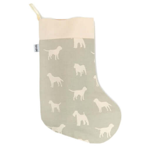 M&H Powder Blue Christmas Stocking