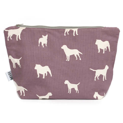 M&H Antiqued Plum Wash Bag