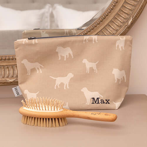 Personalised Dog Print Wash Bags