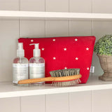 Cranberry Stars Cotton Wash Bag