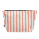 Orange Stripe Brushed Cotton Wash Bag