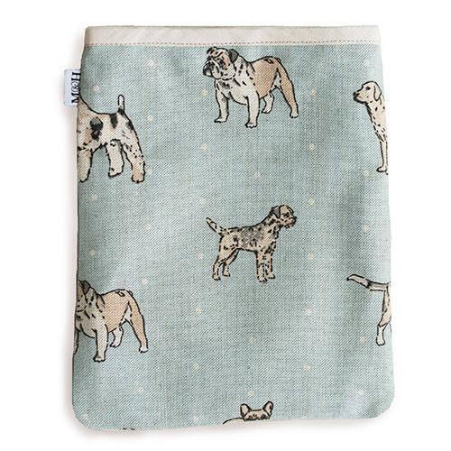 Mutts and Hounds Luxury Dog Print Duck Egg iPad Sleeve
