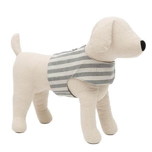 Mutts and Hounds Luxury Flint Stripe Brushed Cotton Soft Harness