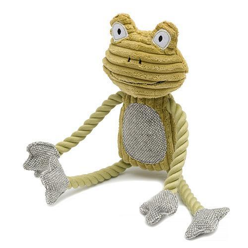 Mutts and Hounds Luxury Fredrik Frog Plush Dog Toy