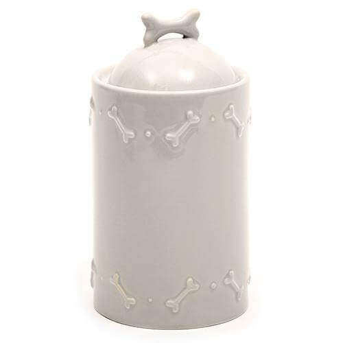 Mutts and Hounds Luxury French Grey Ceramic Biscuit Jar