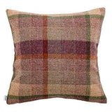 Mutts and Hounds Luxury Grape Check Tweed Cushion