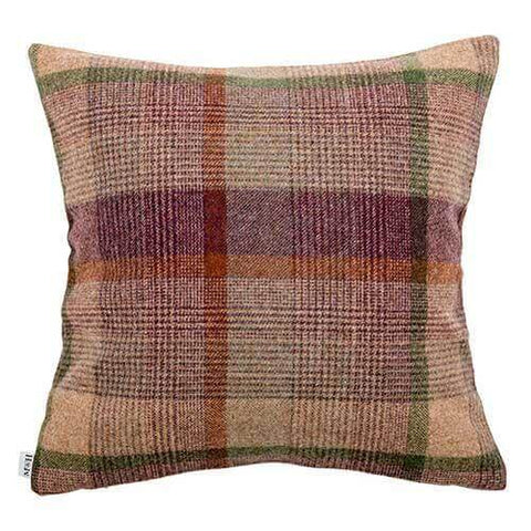 Grape Check Tweed Cushion