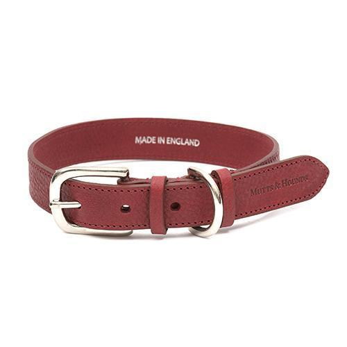 Mutts and Hounds Luxury Grape Leather Dog Collar