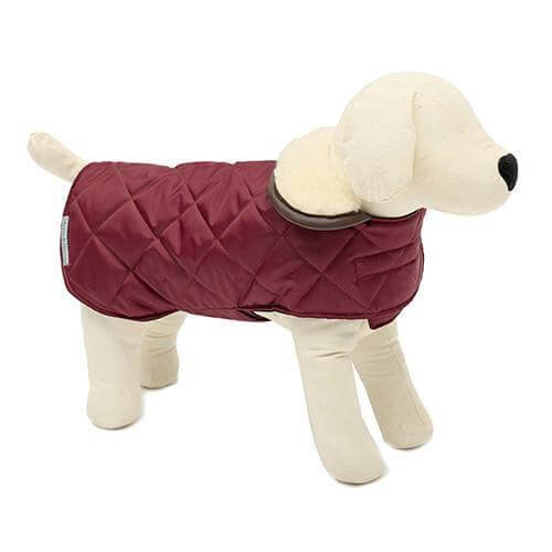 Mutts and Hounds Luxury Grape Quilted Coat